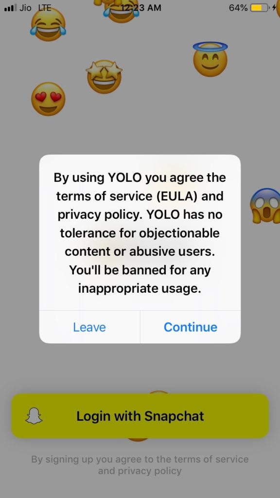 Yolo Snapchat : How to Do Anonymous Questions on Snapchat