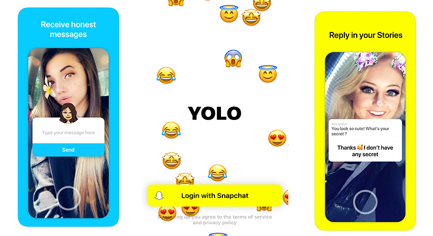 Use yolo on snapchat