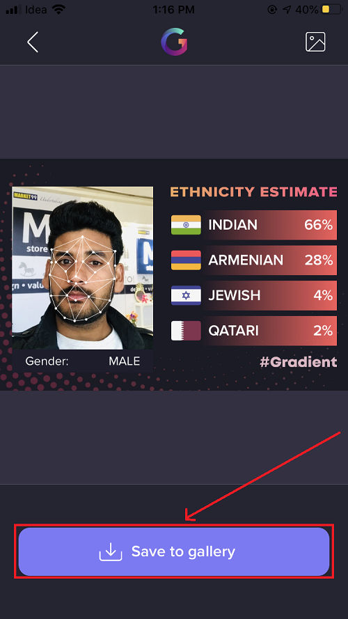 Ethnicity estimate filter